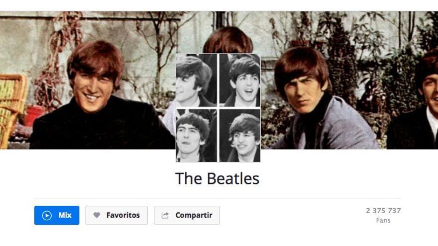 The Beatles es uno de los objetos de deseo de todos los servicios de streaming, aquí su página en Deezer