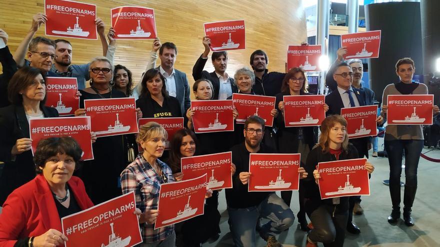 La protesta de eurodiputados en Estrasburgo.
