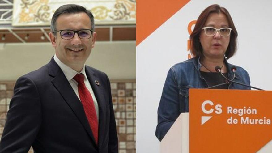 Diego Conesa (PSOE) e Isabel Franco (Cs)