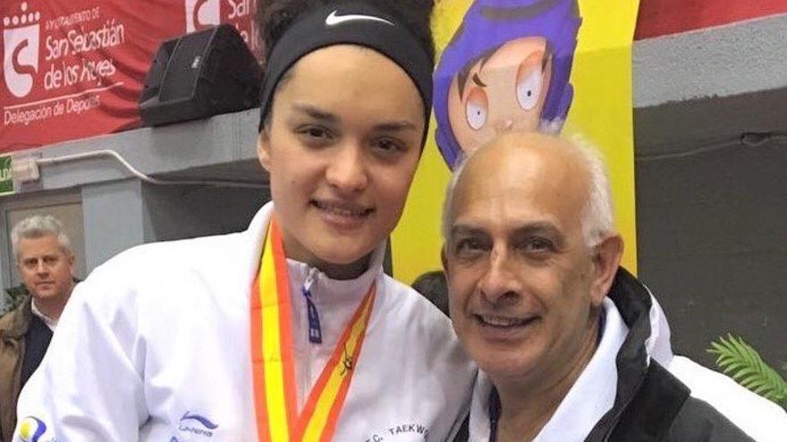 Rosanna Simón, campeona de España de taekwondo 2017. Foto: Deporte Gobierno de Canarias.