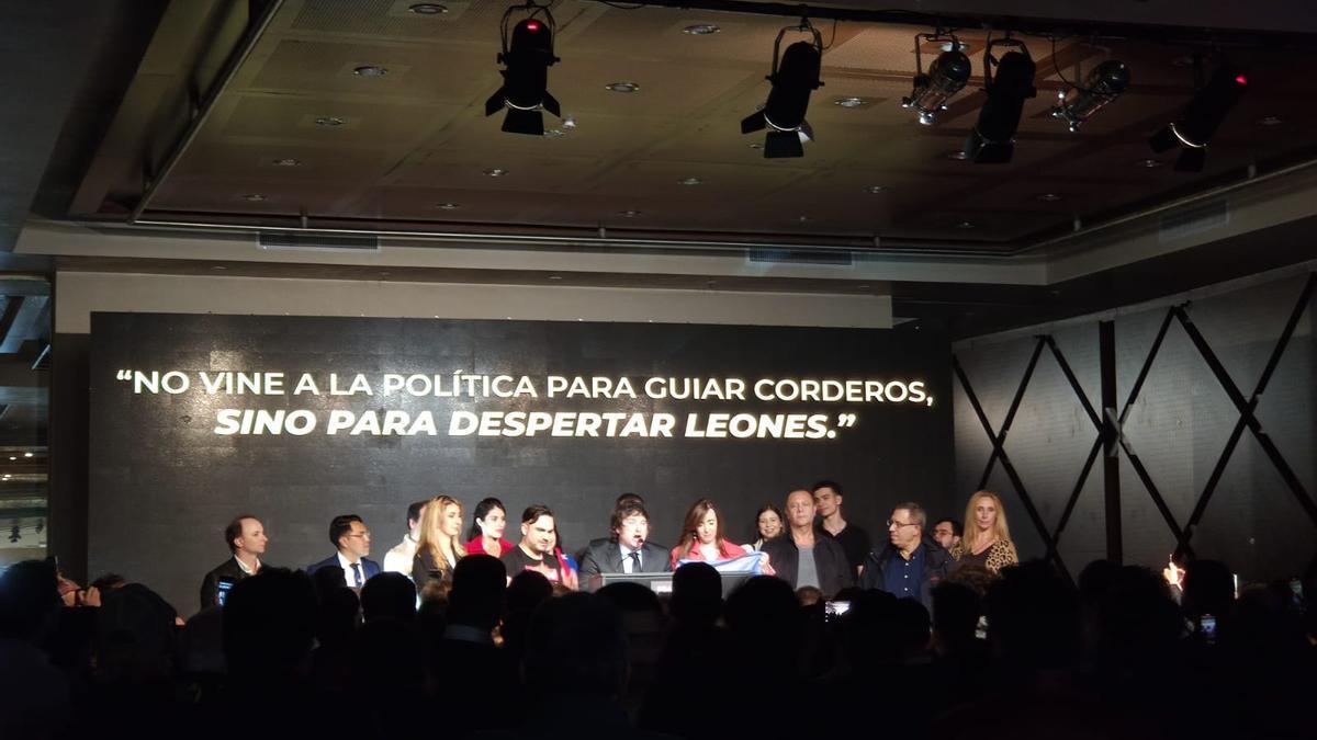 Javier Milei consiguió más del 13 por ciento de los votos en CABA.