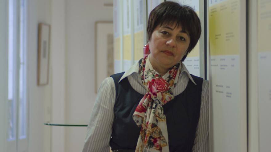 Nadejda Atayeva, activista de Uzbekistán, tuvo que huir de su país de origen y vive como refugiada en Francia \ Foto: Alejandro Navarro Bustamante