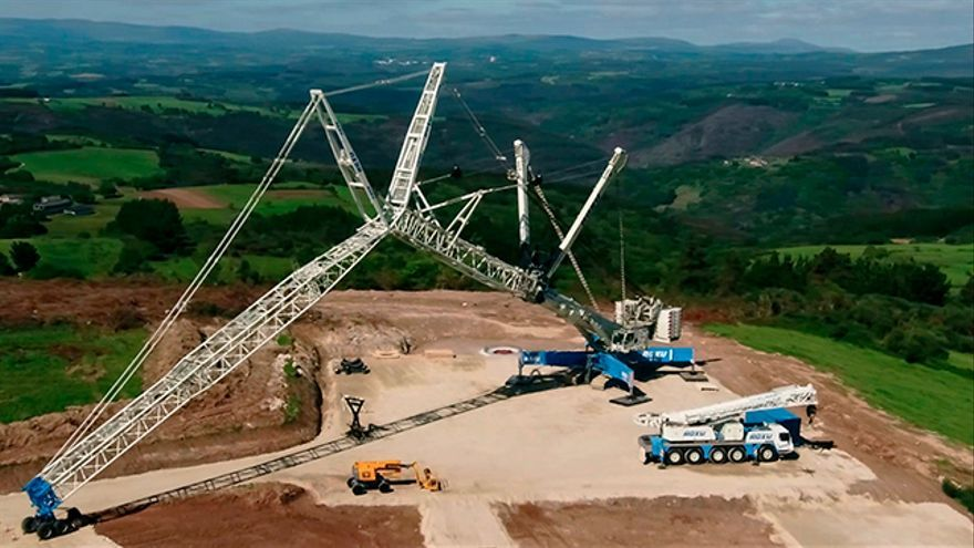 Imagen de las obras del parque eólico de Paradela.