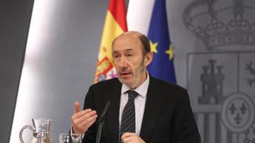 Vicepresidente primero del Gobierno, Alfredo Pérez Rubalcaba