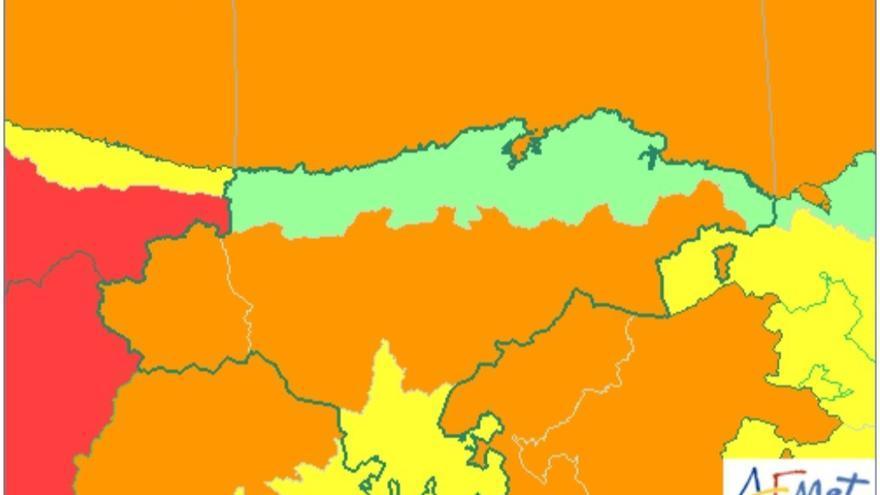 Cantabria estará este jueves y viernes en aviso naranja por nieve y fenómenos costeros
