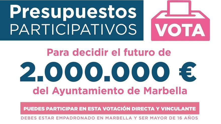Marbella abre la votación ciudadana de los presupuestos participativos hasta este viernes