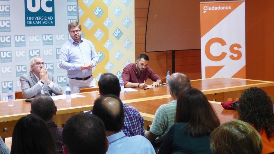 Hervías (Cs) dice que el partido está creciendo en Cantabria, donde cuenta con 330 afiliados