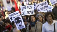 El 15M clama en su séptimo aniversario contra el retroceso en la libertad de expresión