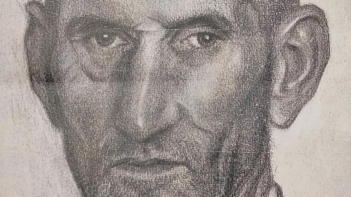 'El hombre bueno', dibujo recuperado de Victorio Macho