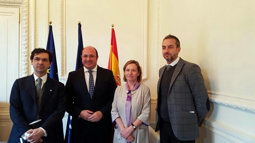 Pedro Antonio Sánchez recaba el apoyo de Unión por el Mediterráneo para investigación en agua, alimentación y tecnología