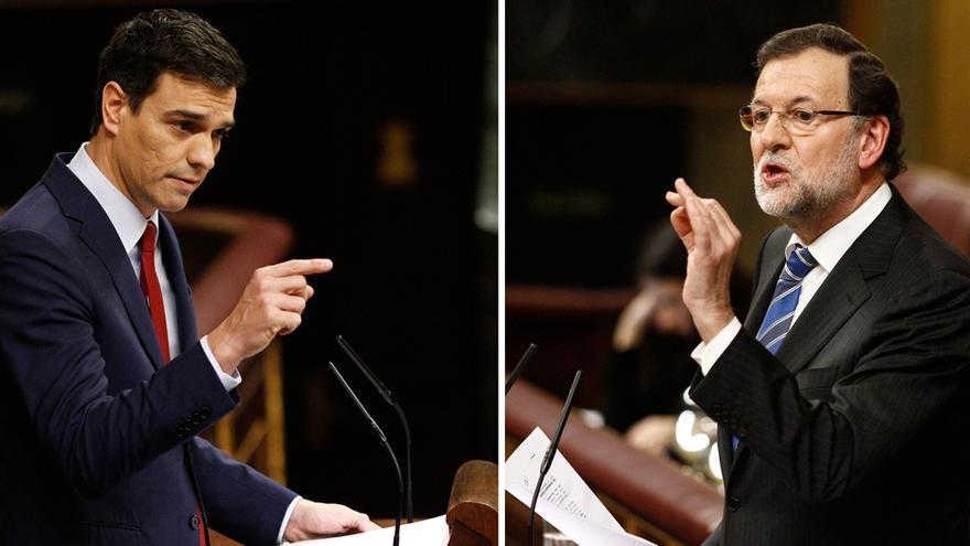 """Sánchez ataca a Rajoy con Bárcenas y el presidente responde que no da la talla y le llama """"patético"""""""