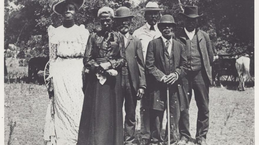 Celebración del 'Juneteenth' o día de la emancipación en Texas en el año 1900.