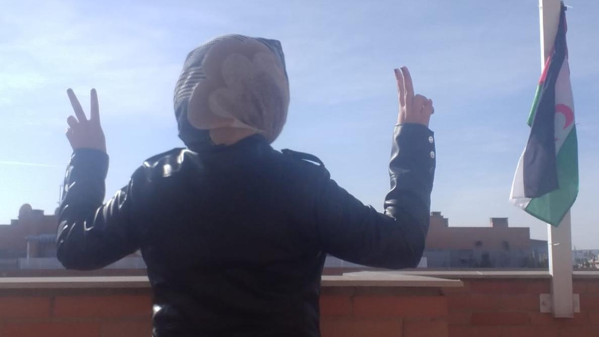 Monina, refugiada saharaui que vive en España desde hace casi diez años.