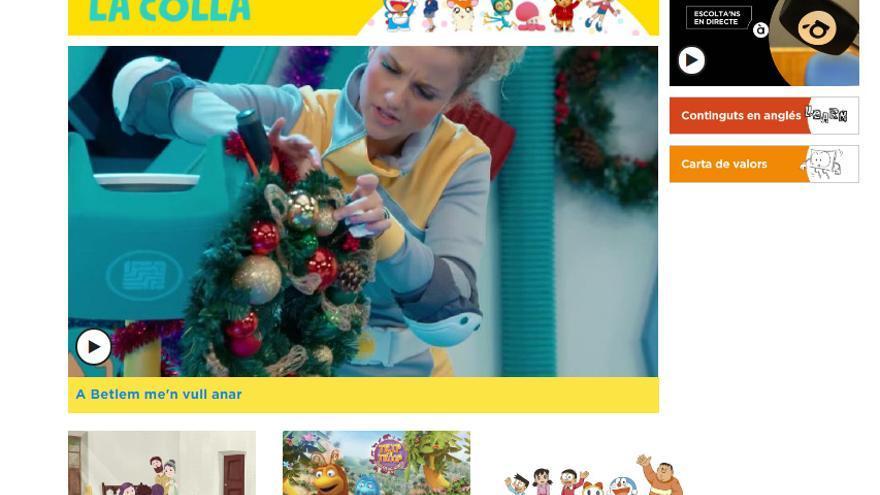 La programación infantil colgada en la web de À Punt