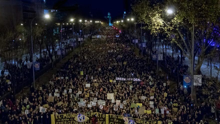Marcha por el Clima en Madrid, el pasado mes de diciembre