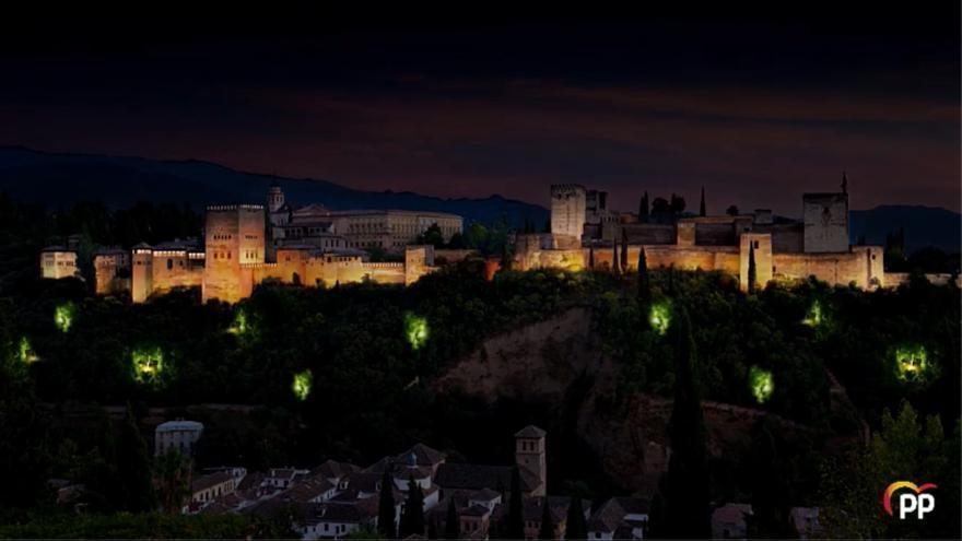 Proyecto de luces y música en la Alhambra