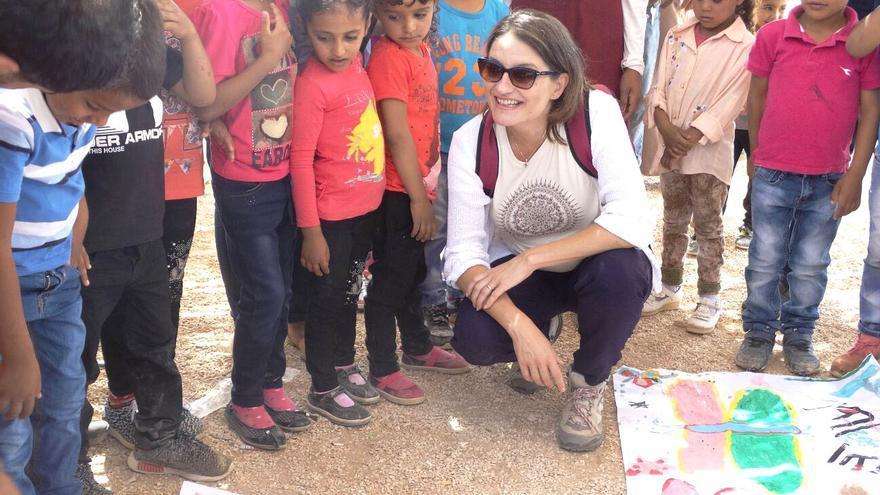 La vicepresidenta valenciana y consellera de Políticas Inclusivas, Mónica Oltra, durante su visita a Palestina