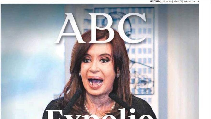 Portada de ABC, 17 de abril de 2012.