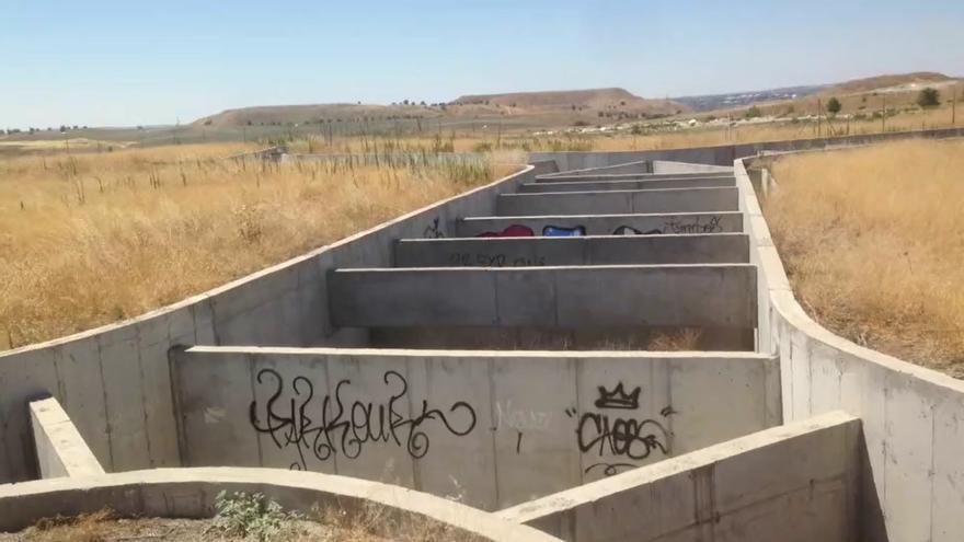 Canal  de regulación del agua en La Gavia / I.B.
