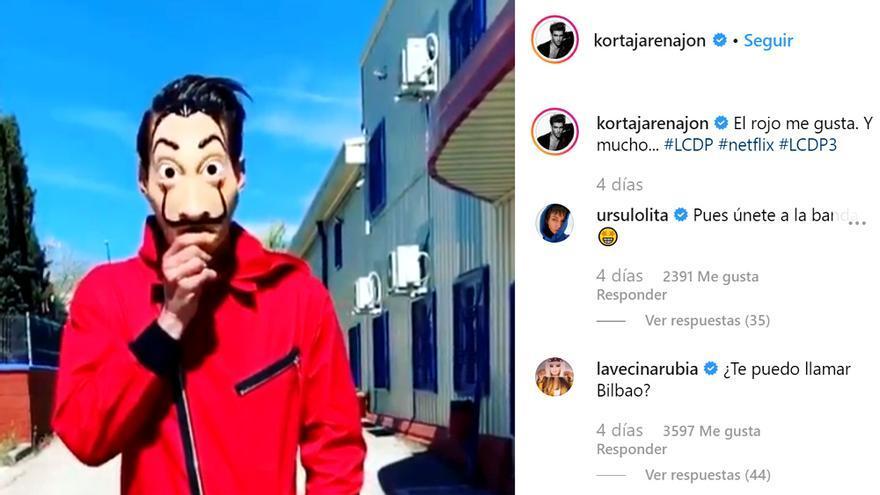 ¿Estará Jon Kortajarena en 'La Casa de Papel'? Una foto del actor en Instagram siembra la duda