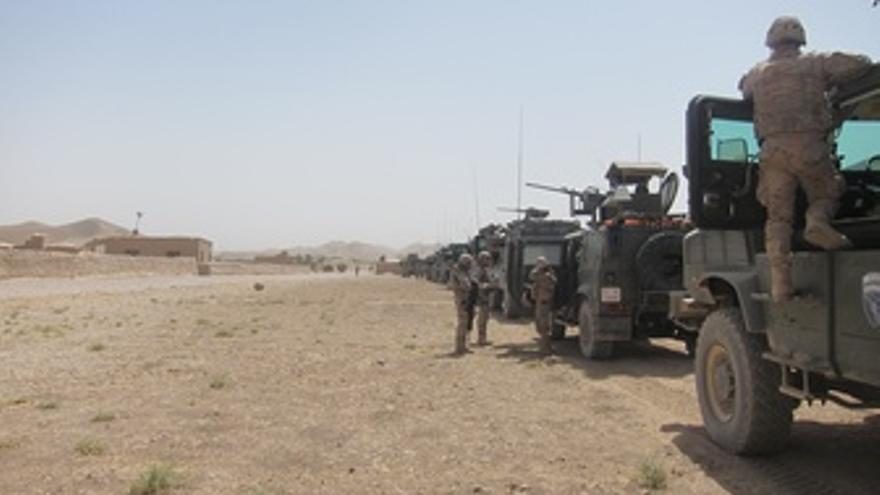 Blindados desplegados en Afganistán