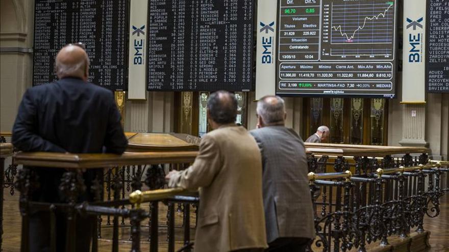 Telefónica lastra al IBEX que cae un 0,60 por ciento y pierde los 11.300 puntos