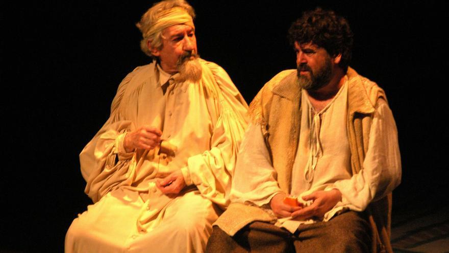 José Sacristán durante la representación de Don Quijote de la Mancha en el Auditorio de Roquetas de Mar