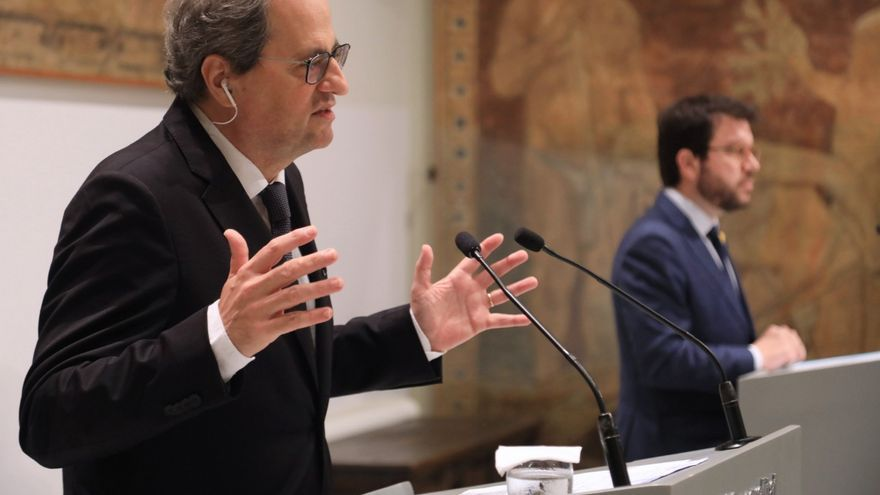 El president Torra y el vicepresident Aragonès comparecen para explicar la estrategia Catalunya2022