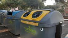 Contenedores de recogida de materiales para su reciclaje