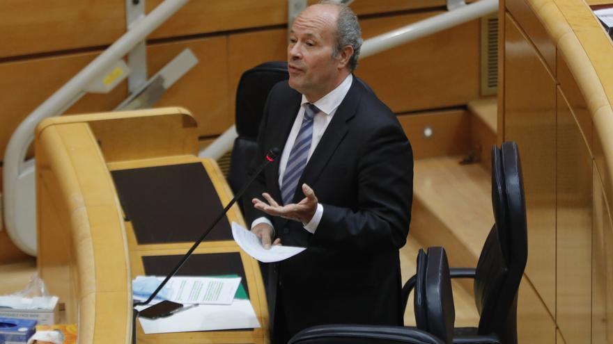 El ministro de Justicia, Juan Carlos Campo, durante su intervención esta semana en el Senado.