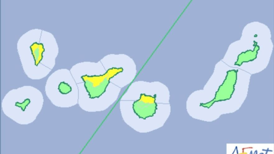 Mapa de aviso de la Amet de riesgo amarillo por viento para este sábado, 26 de diciembre.