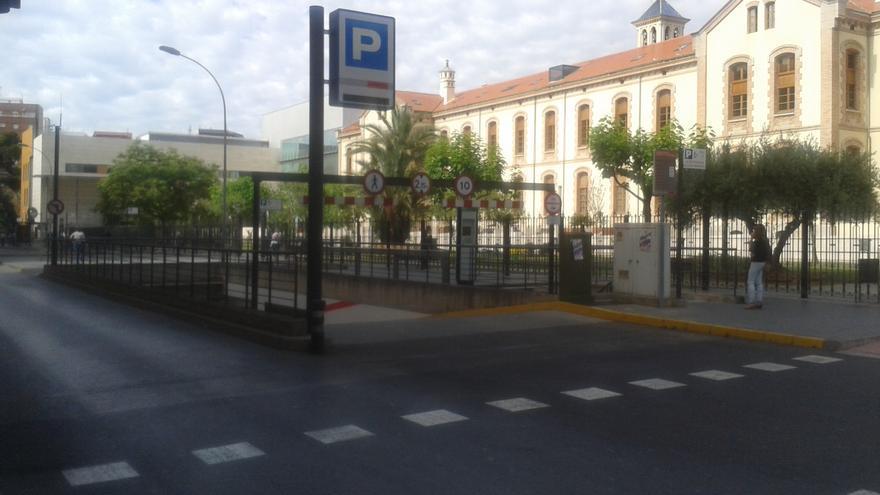 Aparcamiento del Hospital Provincial de Castellón.