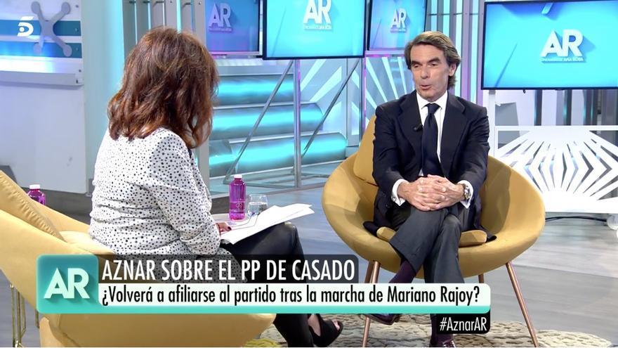 José María Aznar, entrevistado por Ana Rosa Quintana.