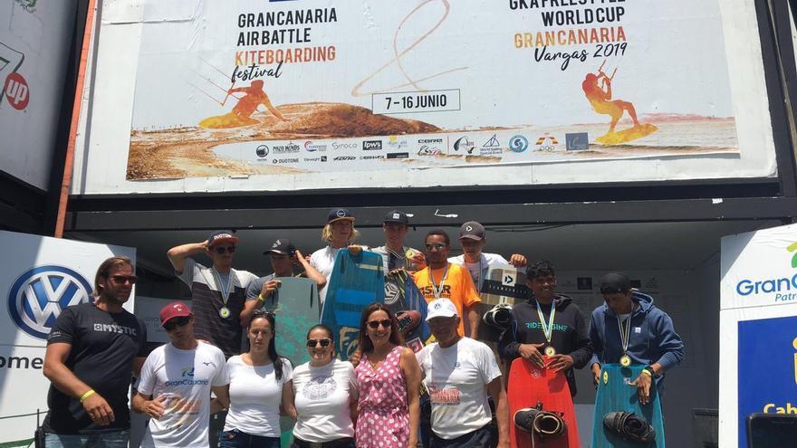 Entrega de premios en la Playa de Vargas