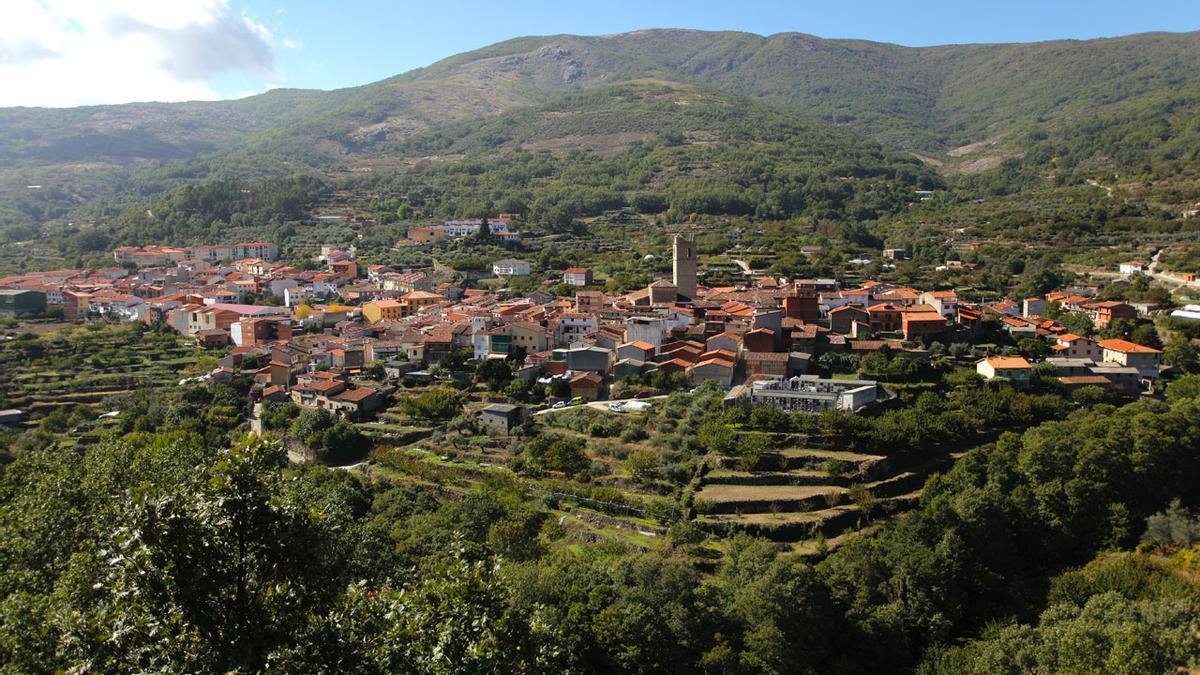 Imagen de la localidad de Garganta la Olla, en la comarca cacereña de La Vera