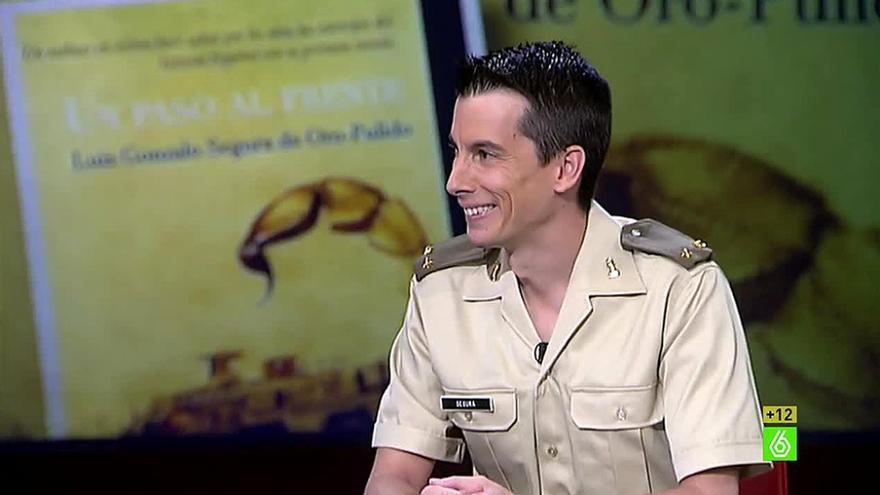 El exmilitar, durante la entrevista en La Sexta por la que fue expedientado.