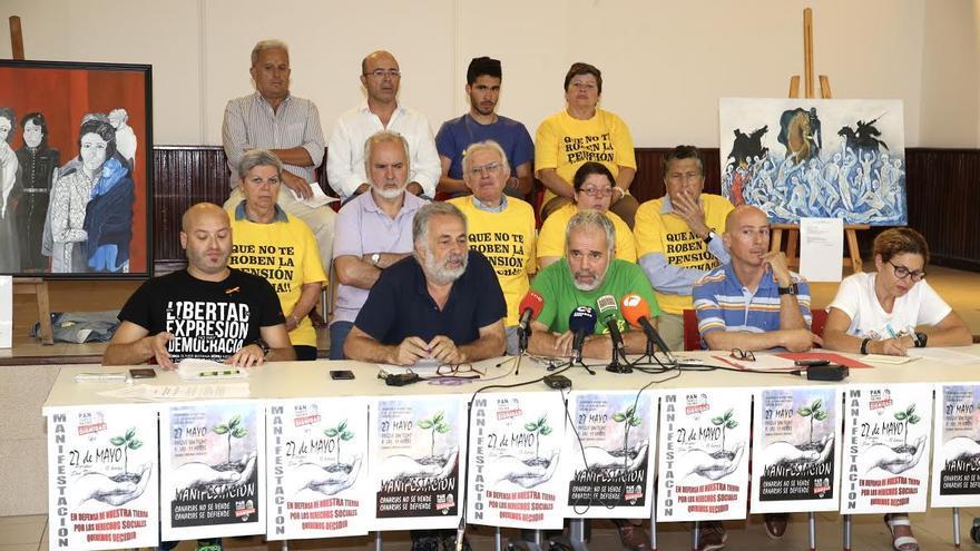 Plataformas canarias llaman a la ciudadanía a participar en las marchas por la dignidad.