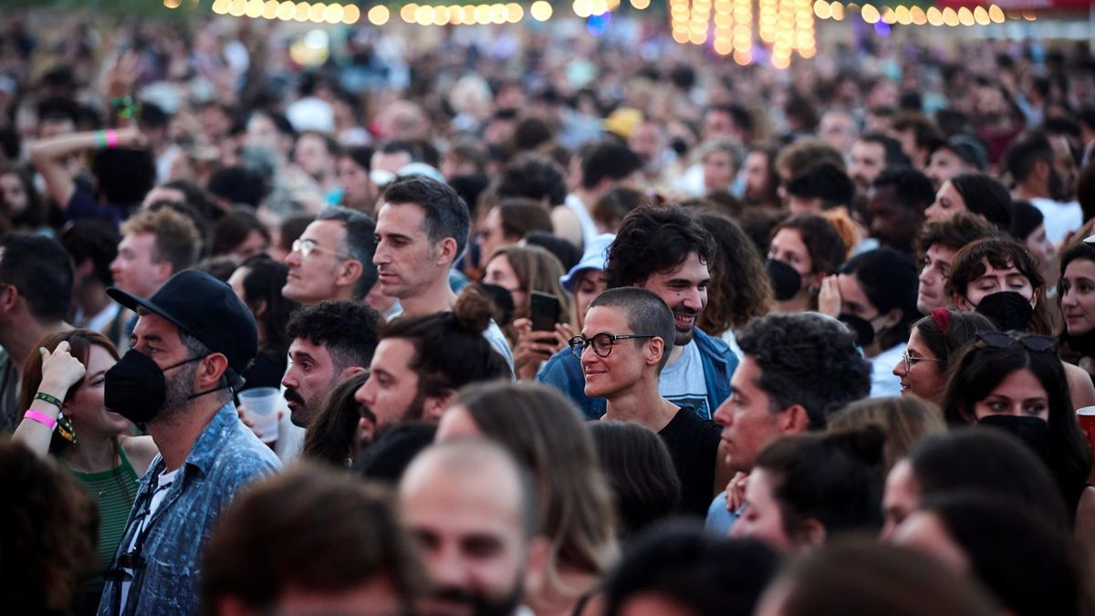 Asistentes al Festival Vida el pasado 3 de julio, buena parte de ellos sin mascarilla.