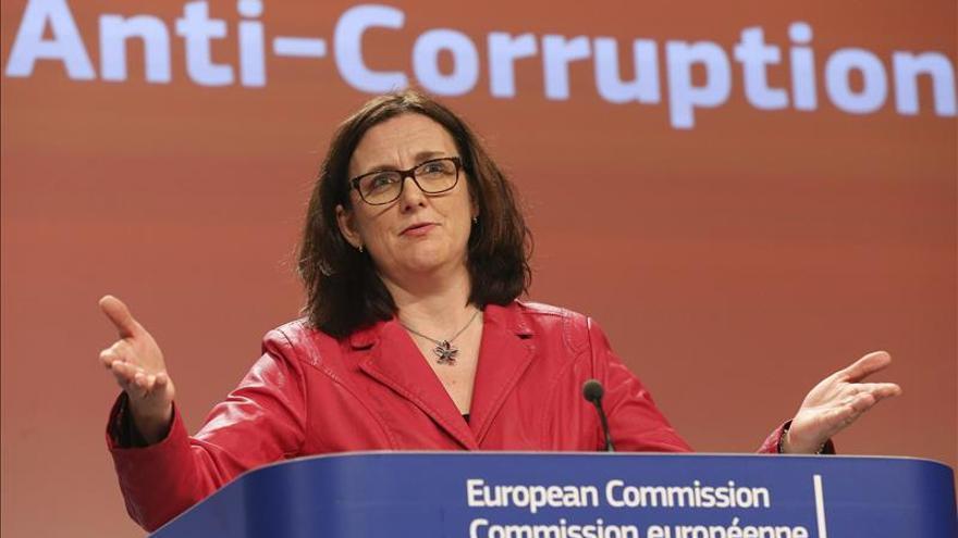 La anterior comisaria de Interior, Cecilia Malmström. / Efe.
