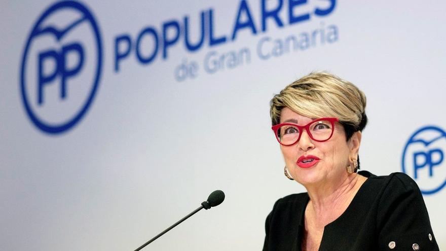 María de la Salud Gil en una rueda de prensa del PP.