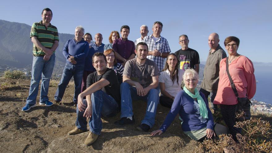 En la imagen, los integrantes de la candidatura de Podemos al Cabildo.
