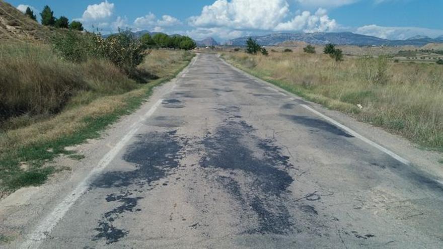 Carretera de Apiés, antes de la primera fase de mejoras