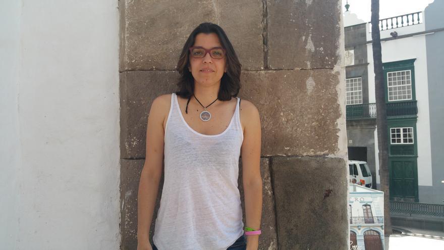 Mabí García León padece una enfermedad pulmonar rara. Foto: LUZ RODRÍGUEZ.