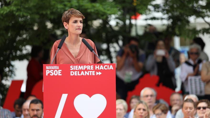 """María Chivite iniciará la próxima semana la ronda de contactos  para formar un """"gobierno de progreso"""" en Navarra"""