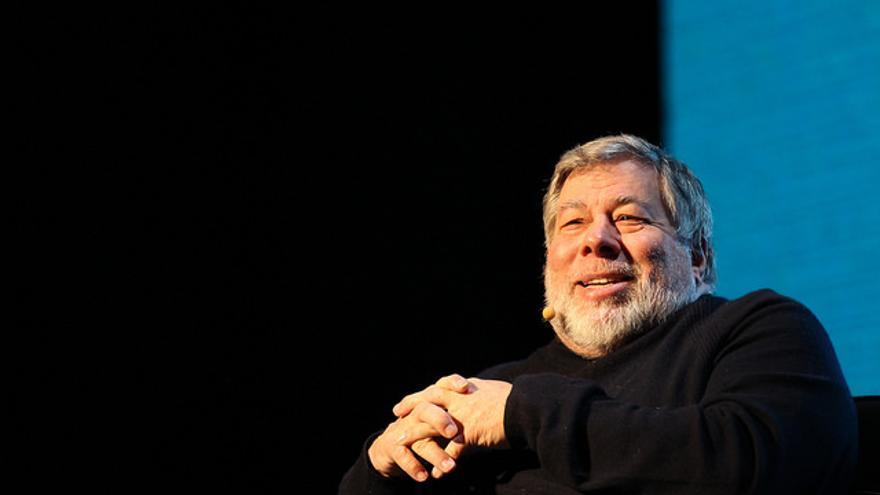 El cofundador de Apple, Steve Wozniak, durante una conferencia