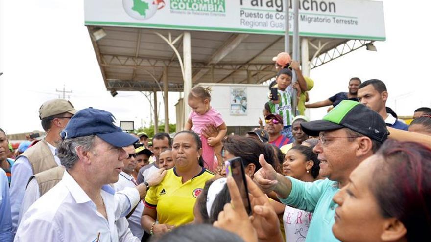 Santos dice que hay avances para una reunión con Maduro sobre la frontera