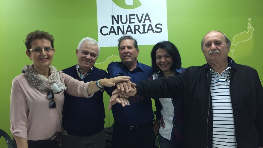 Catalina Cárdenes, Carmelo Ramírez, José López, Isabel Santiago, Domingo Rodríguez.