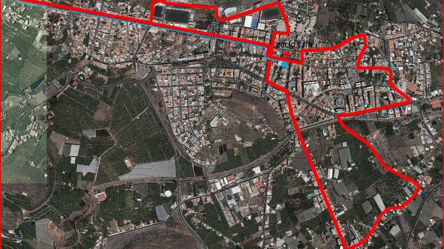 Recorrido de la ruta en bici por el municipio.