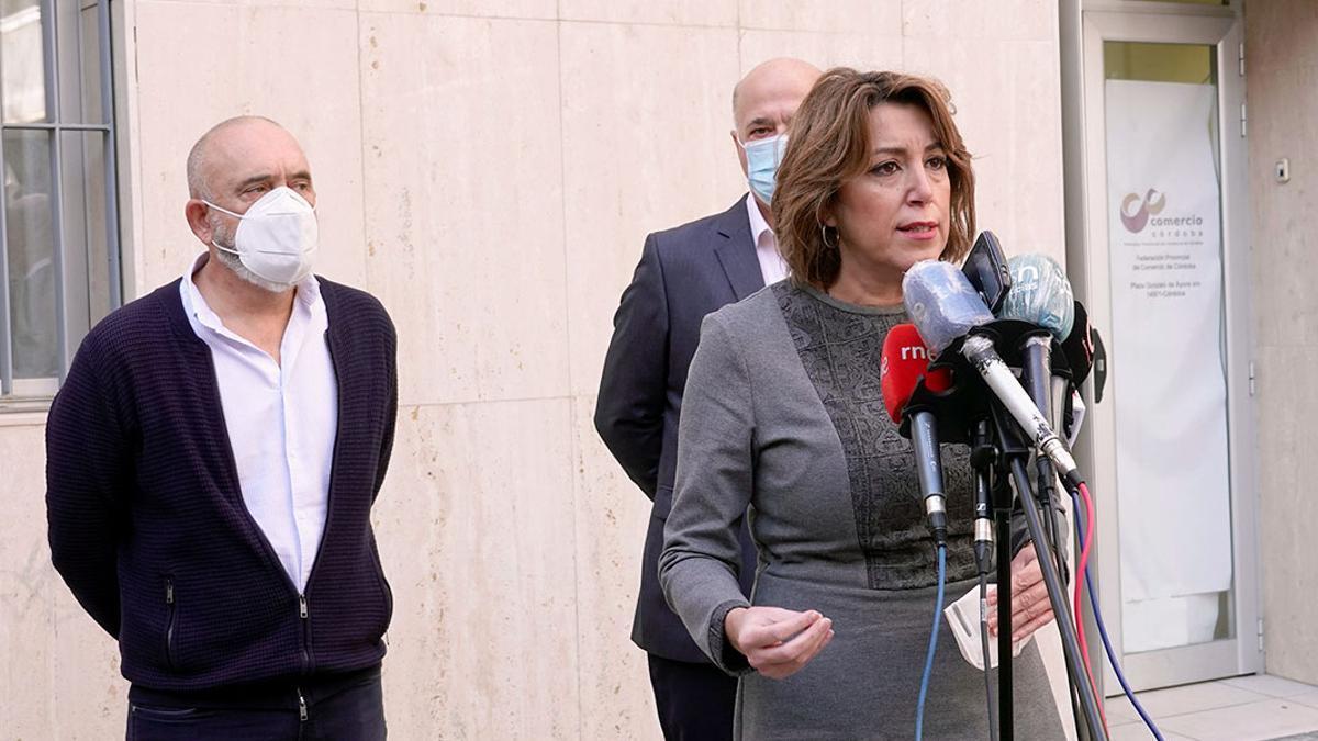 La secretaria general del PSOE andaluz, Susana Díaz, en una visita reciente a Córdoba en una imagen de archivo