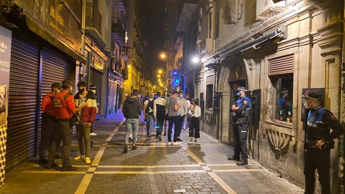 Imagen de una calle de Pamplona en el Casco Antiguo.